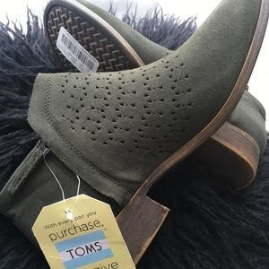 Toms Shoes - PRICE DROP {Toms} green ankle booties NEW